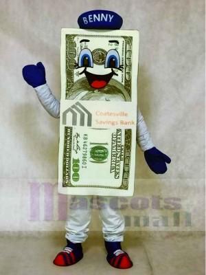 Dollar Rechnung für die Bank Maskottchen Kostüme mit Hut