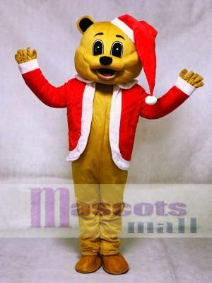 Braun Weihnachten Bär Maskottchen Adult Kostüm Tier