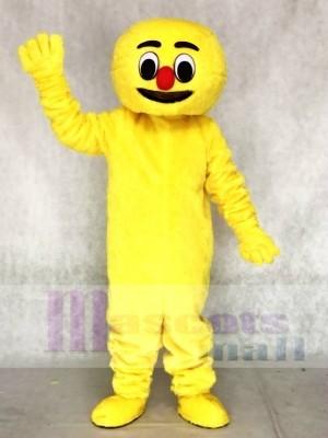 Haariger gelber Boogie Mann Erwachsene Maskottchen Kostüme