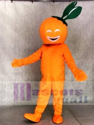 Lächelndes Nabel Orangen Maskottchenkostüm Frucht Anlage