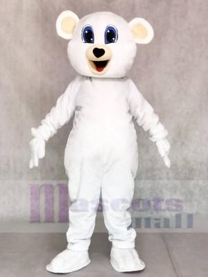 Süß Weiß Bär Maskottchen Kostüme Tier