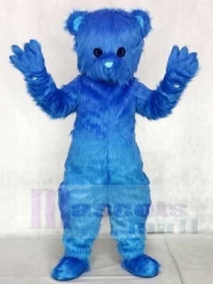 Süß Blau Flauschige Bär Maskottchen Kostüme Tier