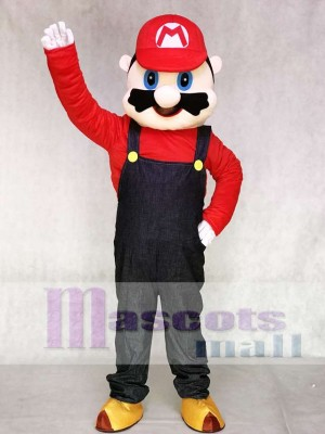 Berühmt Klempner Rotes Super Mario Maskottchen Kostüm Cartoon Anime