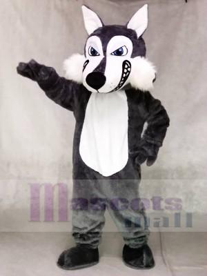Dunkel Grau Wolf Maskottchen Kostüme Tier