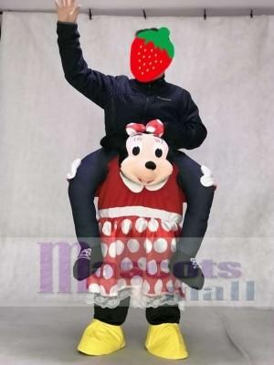 Minnie Maus tragen mich Fahrt Piggyback Minnie Mouse Maskottchen Kostüm