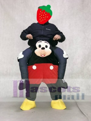 Mickey Mouse Maus Tragen Mich Fahrt Carry Me Piggyback Maskottchen Kostüm
