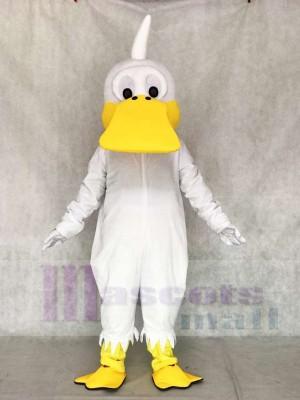 Weißes Enten Maskottchen Kostüm Geflügel Tier