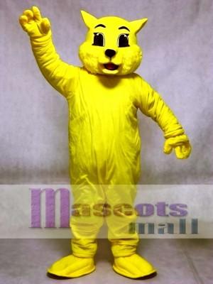 Nette gelbe Wildkatze Katze Maskottchen Kostüme Tier