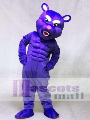 Lila Muskel Panther Maskottchen Kostüme Tier