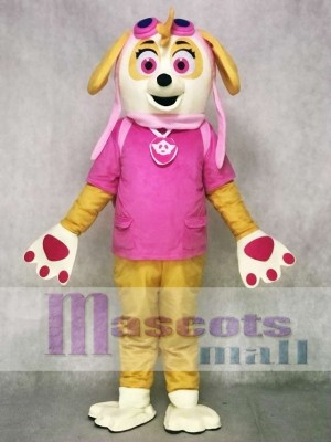 Pink Paw Patrol Skye Mascot Costumes Dog Cartoon Character