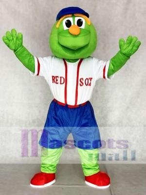 Wally Red Sox Maskottchen Kostüme mit blauem Hut