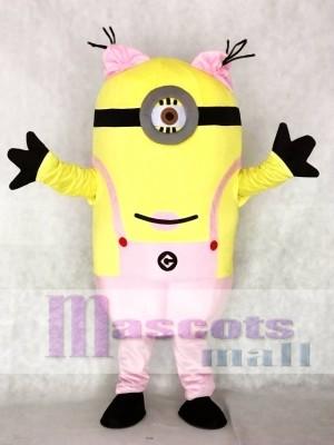 Jämmerliches Ich Rosa Ein Augen Minions Maskottchen Kostüme