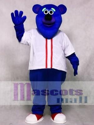Brauch Farbe Blau Fresno Grizzlies Parker T. Bär Maskottchen Kostüm