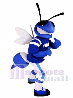 Blaue und weiße Biene Maskottchen Kostüme Insekt