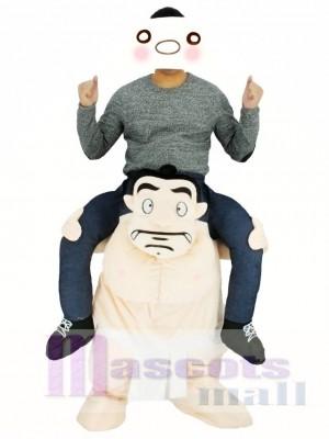 Tragen Sie mich japanische Sumo Ride On Wrestler Piggy Back Maskottchen Kostüme