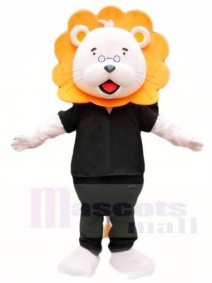 Orange Mähne Schwarzes Shirt Löwe Maskottchen Kostüme Tier