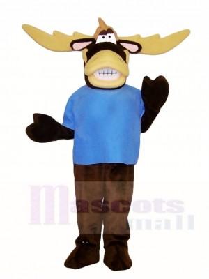 Blaues Shirt Moose Maskottchen Kostüme Tier