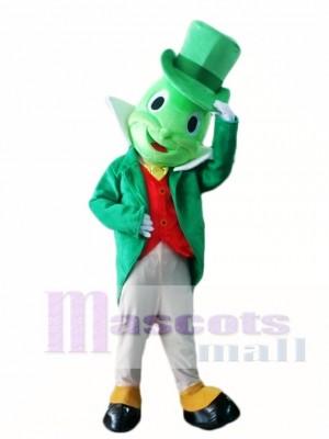 Grün Jiminy Cricket Maskottchen Kostüme Insekt