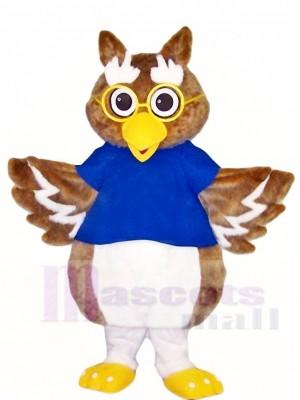 Braun Eule mit Brille Maskottchen Kostüme Vogel Tier