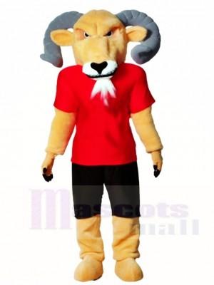 Ram mit rot Hemd Maskottchen Kostüme Tier