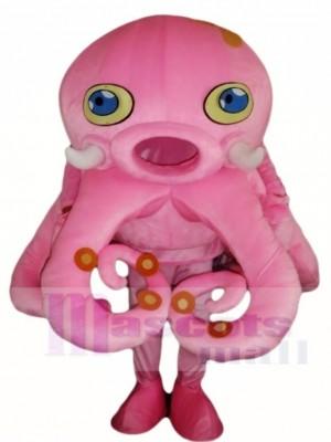 Rosa Kraken Maskottchen Kostüm Aquarium Meeresfrüchte