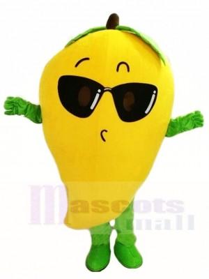 Mango mit Sonnenbrille Maskottchen Kostüme Obst
