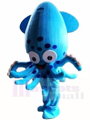 Blauer Tintenfisch Fisch Aquarium Maskottchen Kostüme