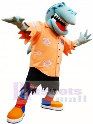 Orange Hemd Hai Maskottchen Kostüm Ozean