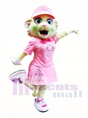 Rosa Katze Maskottchen Kostüm Rosa Kätzchen Maskottchen Kostüme