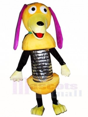 Rosa Ohren Slinky Hund Frühling Hund Maskottchen Kostüme