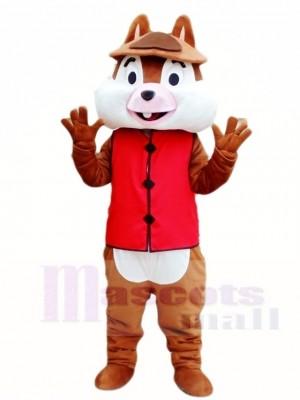 Ein Zahn Eichhörnchen im roten Westen Maskottchen Kostüme Tier