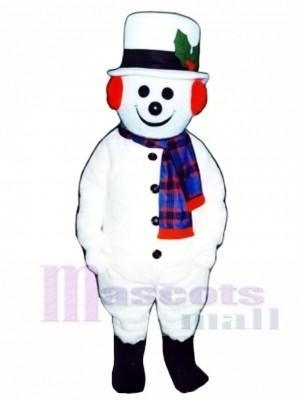 Netter Extra Round Schneemann mit Hut & Schal Maskottchen Kostüm Weihnachten Xmas