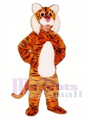 Niedliches Tiger Maskottchen Kostüm