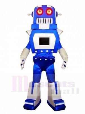 Blau und Silber Robert Maskottchen Kostüme