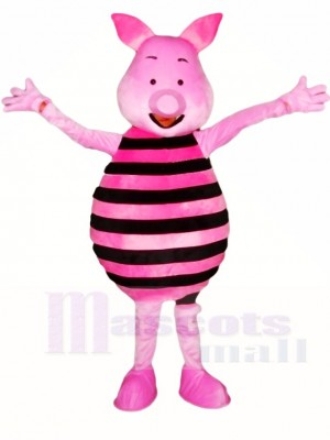 Winnie the Pooh Pink Piglet Pig Mascot Costumes Animal Cartoon