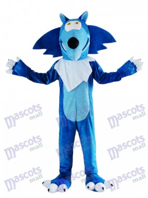 Blaues Wolf Kojote Maskottchen Kostüm Tier