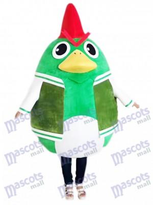 Hahn Hahn Huhn im grünen Anzug Maskottchen Kostüm Tier