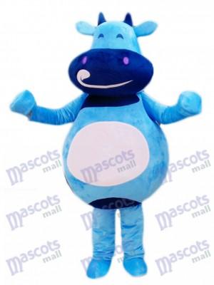Blaues Vieh Kalb Maskottchen Kostüm Karikatur