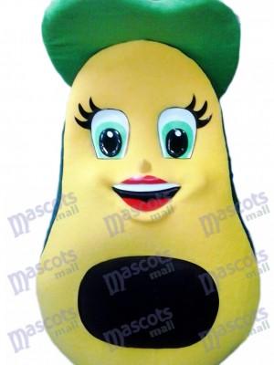 Frisches Avocado Maskottchen Kostüm Frucht Nahrungsmittelbetrieb
