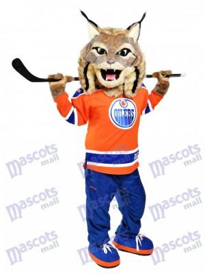 Hunter der kanadische Luchs Edmonton Oilers Hunter Maskottchen Kostüm Tier