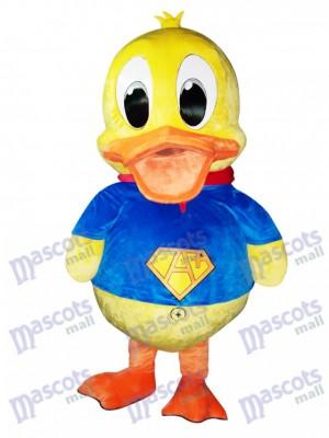Blauer Anzug Ente Maskottchen Kostüm Tier