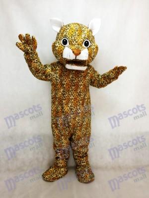 Leopard Maskottchen-Kostüm mit brauner Nase springen