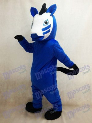 Königsblau Trojan Horse Maskottchen Kostüm Tier
