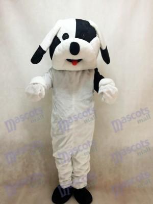 Schwarz Weiß Hund Maskottchen Erwachsene Kostüm Tier