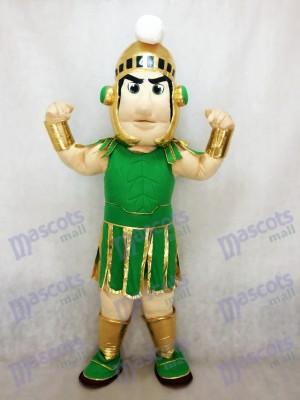 Grün und Golden Spartan Trojan Ritter Sparty Maskottchen Kostüm Kostüm Karneval