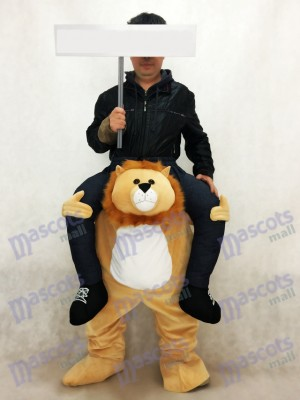 Piggyback Lion Tragen Sie mich Fahrt auf Lion Maskottchen Kostüm