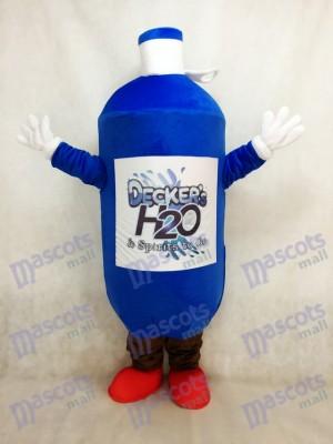 Dunkelblaue Wasserflasche Maskottchen Kostüm mit den roten Schuhen
