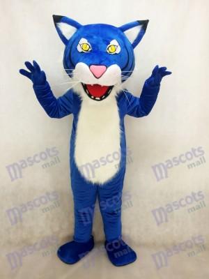 Erwachsener Königsblau Fierce Wildcat Maskottchen Kostüm