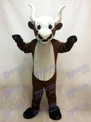 Yak Maskottchen Kostüm mit weißem Bauch