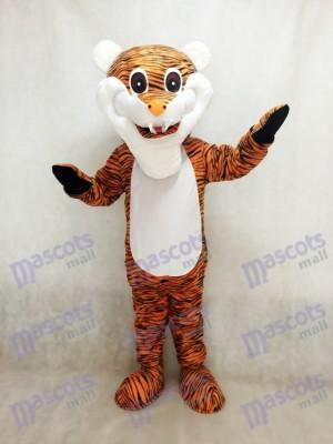 Rötlich brauner Streifen Tiger erwachsenes Maskottchen Kostüm Tier